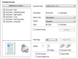 Epson Printer Properties