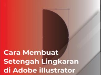 cara cepat membuat setengah lingkaran di adobe illustrator dengan pathfinder